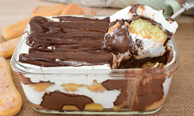 10 Minuten Nutella Tiramisu, unglaublich lecker