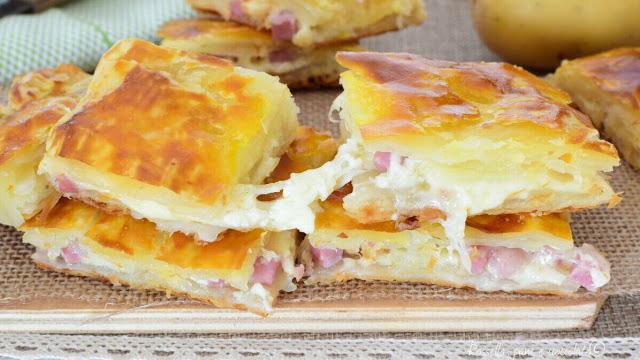 Blätterteigtaschen mit Schinken und Käse, 5 Minuten Zubereitung